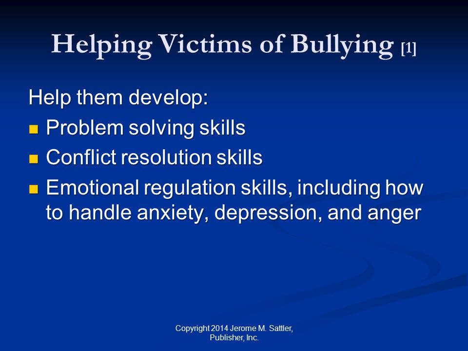 Helping Victims of Bullying [1]